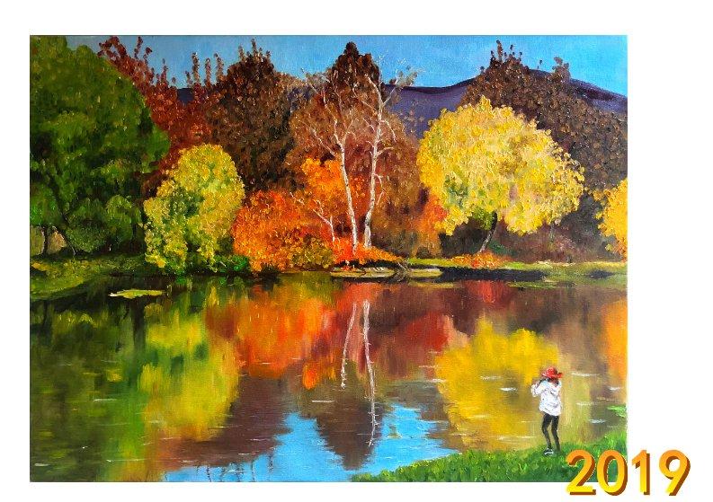 2019年油画作品台历